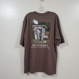 Bass Pro Shops Mens Dark Khaki T-shirt Size XL
